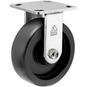 """Bassick Prism Stainless Steel Rigid Caster, Polyolefin - 5"""" Dia."""