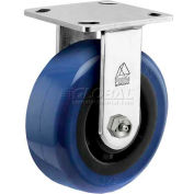 """Bassick Prism Stainless Steel Rigid Caster, Eagle Urethane - 6"""" Dia."""