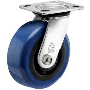 """Bassick Prism Stainless Steel Swivel Caster, Eagle Urethane - 5"""" Dia."""