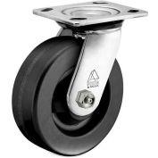 Bassick Prism Stainless Steel Swivel Caster, Phenolic - 6" Dia.