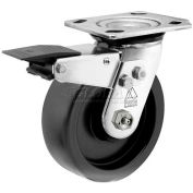 "Bassick Prism Stainless Steel Total Lock Swivel Caster, Polyolefin - 8"" Dia."