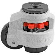 Swivel Stem Leveling Manual Caster 1650 Lbs., 75mm Dia. Nylon Wheel, M16- x 2.0P Stem Mounting Hole