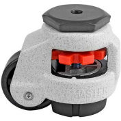 Swivel Stem Leveling Manual Caster 110 Lbs., 42mm Dia. Nylon Wheel, 3/8-16 Stem Mounting Hole