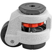 Swivel Stem Leveling Manual Caster 550 Lbs., 50mm Dia. Nylon Wheel, 1/2-13 Stem Mounting Hole