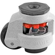 Swivel Stem Leveling Manual Caster 1100 Lbs., 63mm Dia. Nylon Wheel, 1/2-13 Stem Mounting Hole