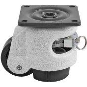 Foot Master® Swivel Plate Ratchet Leveling Caster GDR-60F - 550 Lb. - 50mm Dia. Nylon Wheel
