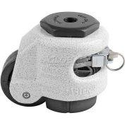 Swivel Stem Leveling Ratchet Caster 550 Lbs., 50mm Dia. Nylon Wheel, 1/2-13 Stem Mounting Hole