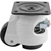 "Swivel Plate Leveling Ratchet Caster 1100 Lbs., 50mm Dia. Nylon Wheel, 3-9/16"" x 3-9/16"" Plate"