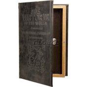 "Barska Antique Book Diversion Safe CB11994 with Key Lock, 7""W x 2-3/4""D x 10-3/4""H, Brown"