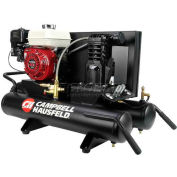 Campbell Hausfeld Portable Air Compressor CE2000, Honda GX160 Motor, Wheelbarrow, 5.5HP, 8 Gal