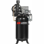 Campbell Hausfeld® CE7001,7.5 HP,Two-Stage Comp.,80 Gal,Vert,175 PSI,25 CFM,3-PH 208-230/460V