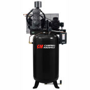 Campbell Hausfeld Two-Stage Electric Air Compressor CE7001FP, 208V-230V/460V, 7.5HP, 3PH, 80 Gal