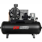 Campbell Hausfeld® CE7006,7.5 HP,Two-Stage Comp.,80 Gal,Horiz,175 PSI,25 CFM,3-PH 208-230/460V