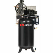 Campbell Hausfeld® CE7051FP,5HP,Two-Stage Comp.,80 Gal,Vert,175 PSI,17.2 CFM,3-PH 208-230/460V