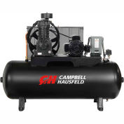 Campbell Hausfeld Two-Stage Electric Air Compressor CE7052, 230V, 5HP, 1PH, 80 Gal