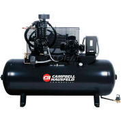 Campbell Hausfeld Two-Stage Electric Air Compressor CE7053FP, 208V-230V/460V, 5HP, 3PH, 80 Gal