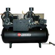 Campbell Hausfeld CE7206FP, Duplex Air Compressor, 15HP, 208-230/460V, 120 Gal.