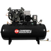 Campbell Hausfeld Two-Stage Electric Air Compressor CE8001FP, 208V-230V/460V, 10HP, 3PH, 120 Gal