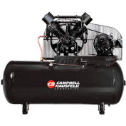 Campbell Hausfeld Two-Stage Electric Air Compressor CE8002, 208V-230V/460V, 15HP, 3PH, 120 Gal