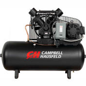 Campbell Hausfeld® CE8003,15HP,Two-Stage Comp.,120 Gal,Horiz,175PSI,52.4 CFM,3-PH 208-230/460V