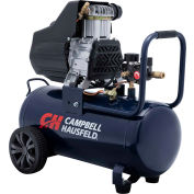 Campbell Hausfeld DC080100, 1.7 HP, Portable Compressor, 8 Gal, Horiz., 150 PSI,3.7 CFM,1-Phase 120V