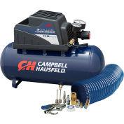 Campbell Hausfeld FP209499AV, 0.33 HP, Hand Carry, 3 Gallon, Horiz., 110 PSI, 0.36 CFM, 1-Phase 120V