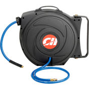 "Campbell Hausfeld® PA500400AV 3/8""x50' 300 PSI Spring Retractable Composite Air Hose Reel"