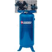 Campbell Hausfeld Electric Air Compressor TQ3101, 208V/230V, 5HP, 1PH, 60 Gal