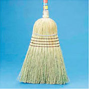 "Warehouse Broom Yucca/Corn Fiber Bristles, 42"" Wood Handle Natural - BWK932YEA"