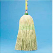 "Parlor Broom Yucca/Corn Fiber Bristles, 42"" Wood Handle - BWK926YEA"