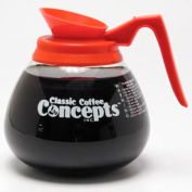 Classic Coffee Connections 27100 -12-Cup Glass Commercial Decanter, Decaf - Pkg Qty 3