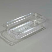 "Carlisle 1026007 - Topnotch® One-Third Size Food Pan 12-3/4"" x 7"", Clear - Pkg Qty 6"