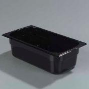 "Carlisle 1026103 - Topnotch® One-Third Size Food Pan 12-3/4"" x 7"", Black - Pkg Qty 6"