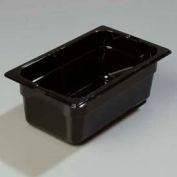 "Carlisle 1028103 - Topnotch® One Quarter Size Food Pan 10-1/4"" x 6-3/8"", Black - Pkg Qty 6"
