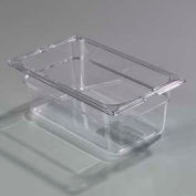 "Carlisle 1028107 - Topnotch® One Quarter Size Food Pan 10-1/4"" x 6-3/8"", Clear - Pkg Qty 6"