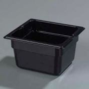 "Carlisle 1030103 - Topnotch® 1/6 Size Food Pan 6-25/32"" x 6-3/8"", Black, 4"" Deep - Pkg Qty 6"