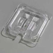 "Carlisle 10311U07 - Topnotch® Universal Handled Notched Lid 6-3/4"" x 6-3/8"", Clear - Pkg Qty 6"