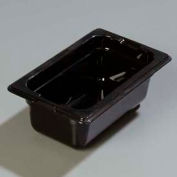 "Carlisle 1032003 - Topnotch® One-Ninth Size Pan 6-3/4"" x 4-1/4"", Black, 2.5"" Deep - Pkg Qty 6"