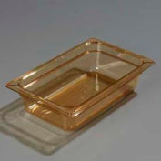 "Carlisle 1048013 - Topnotch® One-Quarter Size Pan 10-1/4"" x 6-3/8"", Amber, 2.5"" Deep - Pkg Qty 6"