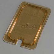 "Carlisle 10491U13 - TopNotch® Universal Handled Notched Lid, 10-1/4"" x 6-3/8"", Amber"