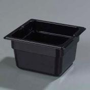 """Carlisle 1050103 - Topnotch® 1/6 Size Food Pan 6-25/32"""" x 6-3/8"""", Black - Pkg Qty 6"""