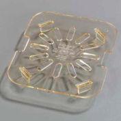 "Carlisle 1051513 - Topnotch® Drain Shelf 4-3/4"" x 4-1/4"", Amber - Pkg Qty 6"