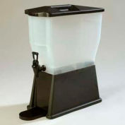 Carlisle 1085003 - Trimline Premium Beverage Server, 3 Gallon, Rectangular, Black