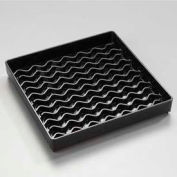 "Carlisle 1102603 - Newave™ Square Drip Tray 6"", Black - Pkg Qty 12"