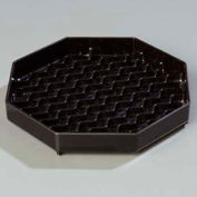 "Carlisle 1103603 Newave Octagon Drip Tray 6"", Black Package Count 12"