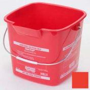 Square Steri-Pail® 6 Qt. - Red - Pkg Qty 12