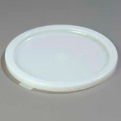 "Carlisle 120202 - Bains Marie Food Storage Container Lid 12-3/4"" D/ 3/4"", White - Pkg Qty 6"