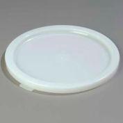 "Carlisle 120202 - Bains Marie Food Storage Container Lid 12-3/4"" D/ 3/4"", White - Pkg Qty 6"