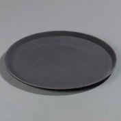 "Carlisle 1600GR004 - Griptite™ Round Tray 16"" x 23/32"", Black - Pkg Qty 12"