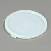 "Carlisle 020302 - Bains Marie Food Storage Container Lid 7"" D x 5/16"", White - Pkg Qty 12"